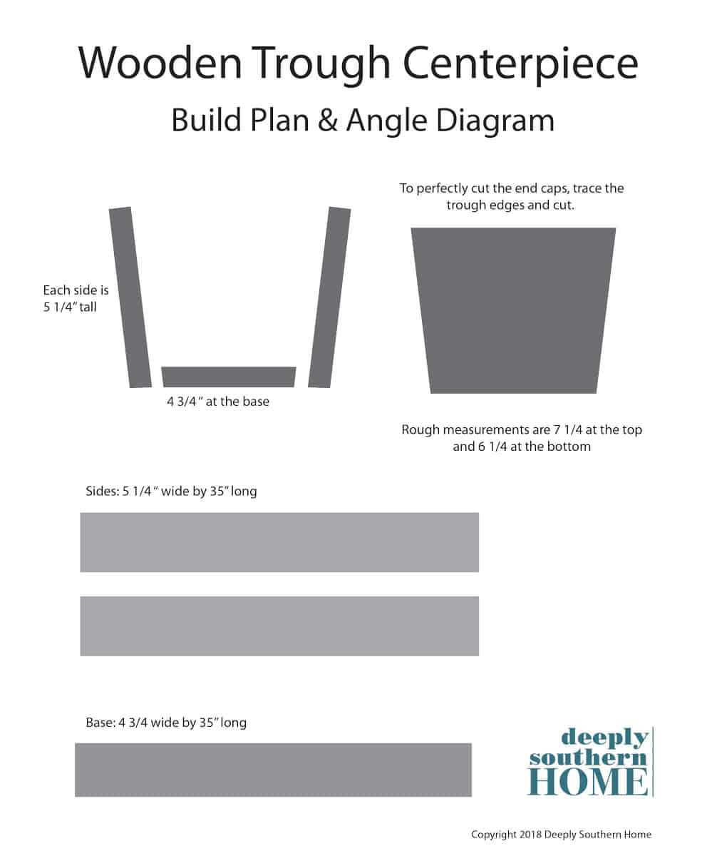 wooden trough centerpiece plans