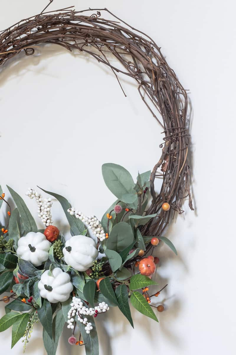 easy grapevine fall wreath