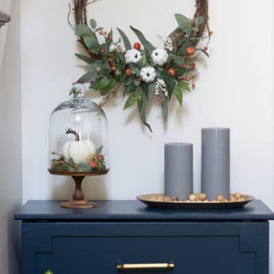 Deconstructed Modern Fall Wreath