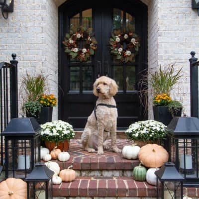 Fall on the Porch & Fake Pumpkin Fixes