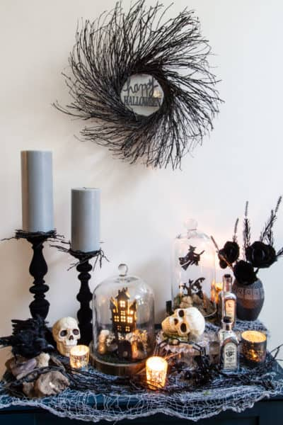 Simple Twig Halloween Wreath