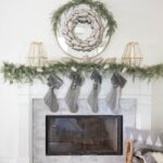 Christmas Mantle Decor & Simple Snow Globe Lanterns