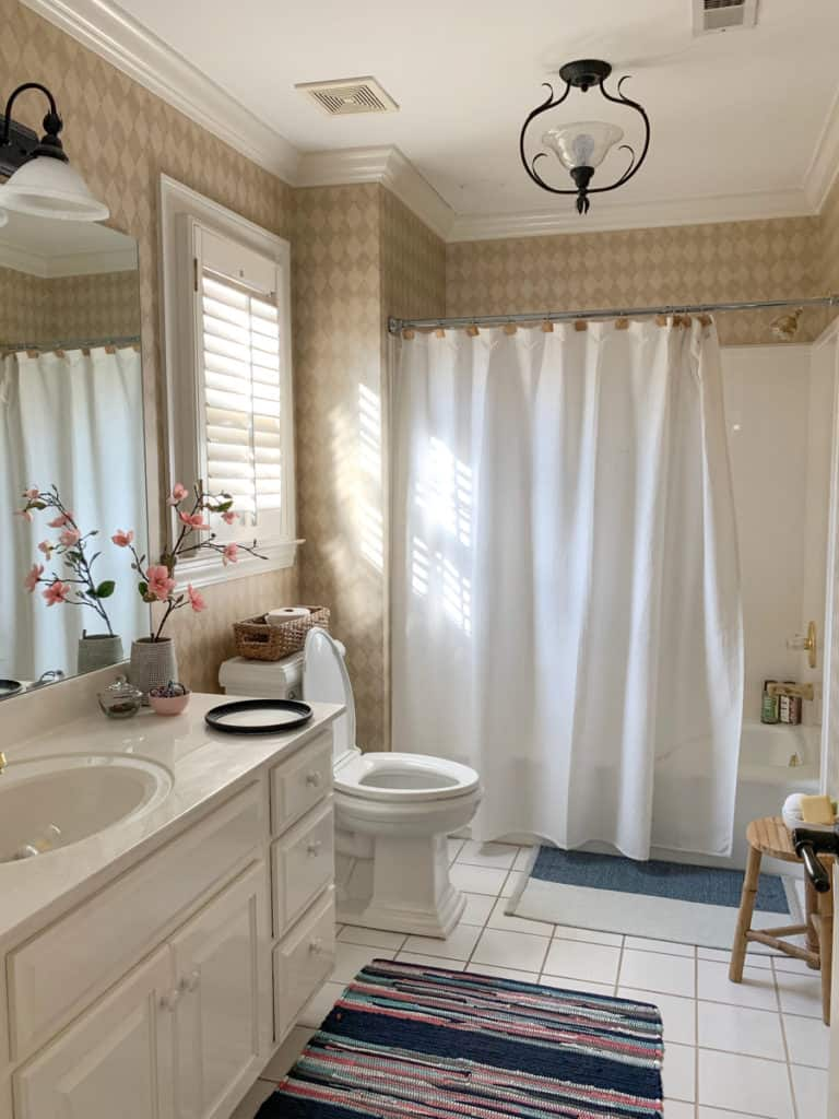 bathroom refresh update with paint deeplysouthernhome