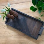 Easy Geometric Wood Serving Tray & Spring in the Kitchen