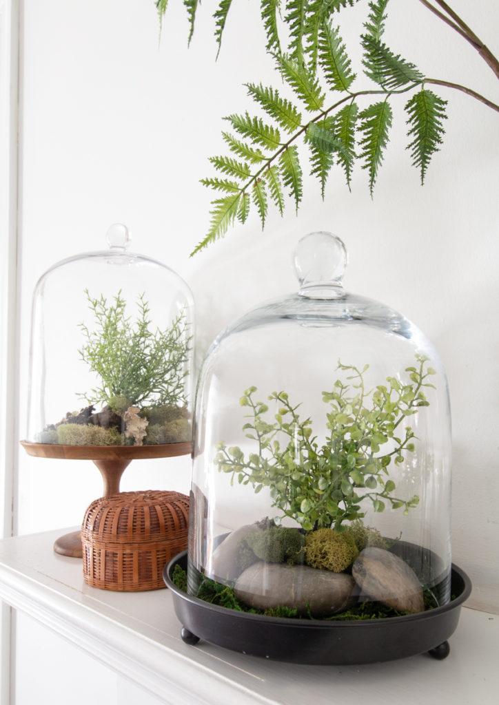 Diy Spring Terrarium Mantle Deeplysouthernhome