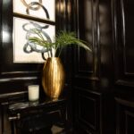 Black Tie Luxe Powder Room for the Alabama Symphony Decorators' ShowHouse