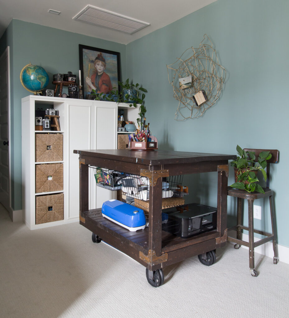 craft table and storage