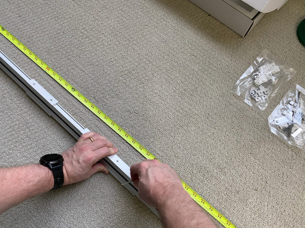 Installation of a motorized track system for curtains