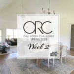 One Room Challenge Spring 2020 WEEK 2: Open & Vaulted, Living & Dining Room Design Plan